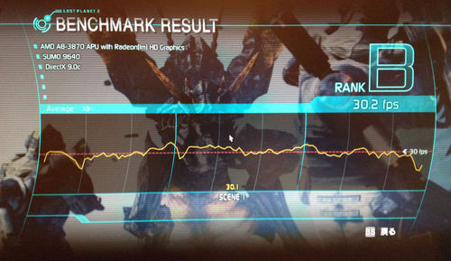 AMD A8-3870K LOST PLANET2 BENCHMARK