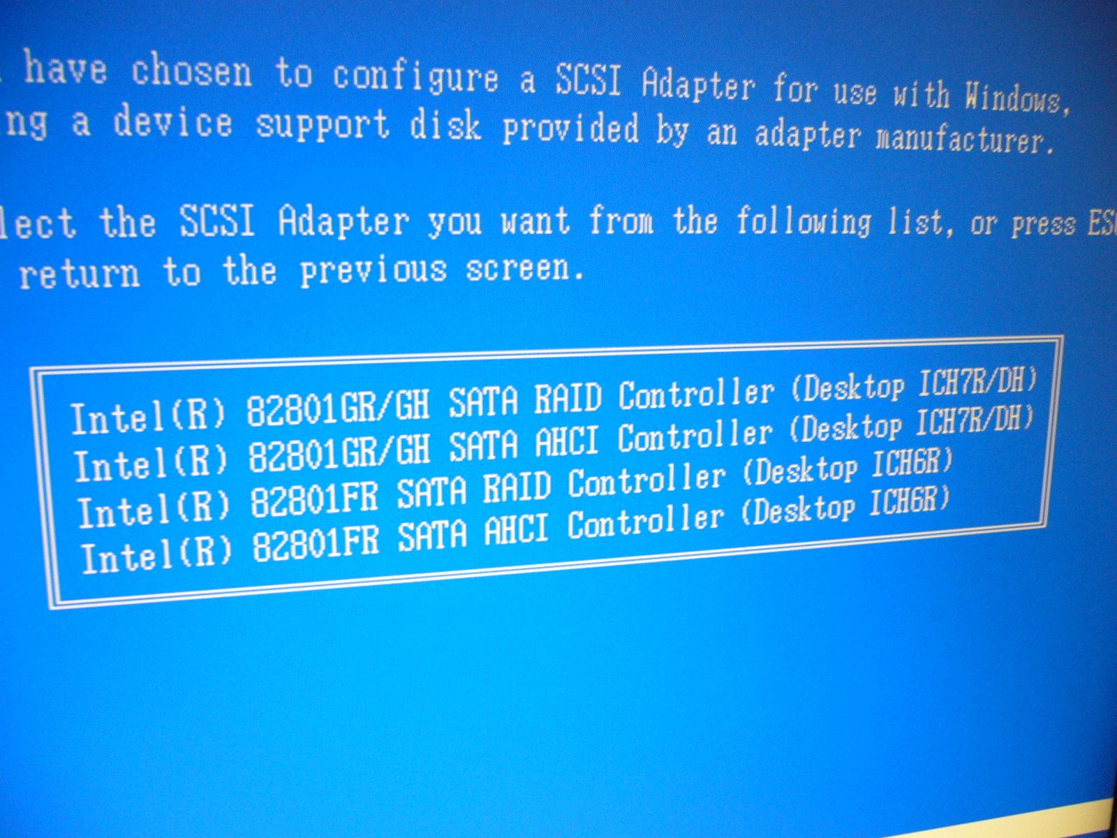 Intel 82801gr gh sata raid controller