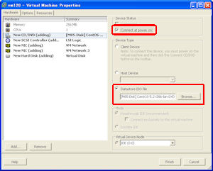 VMware ESXiにCentOS 5をインストールする