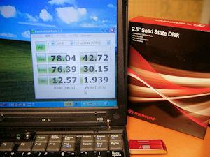 ThinkPad X30 SSD TS32GSSD25-M 換装