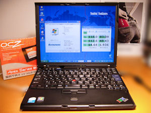 Lenovo IBM ThinkPad X60 SSD OCZ Apex